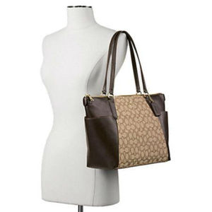 COACH F54797 Logo Ava II Large Tote New RP $325.00